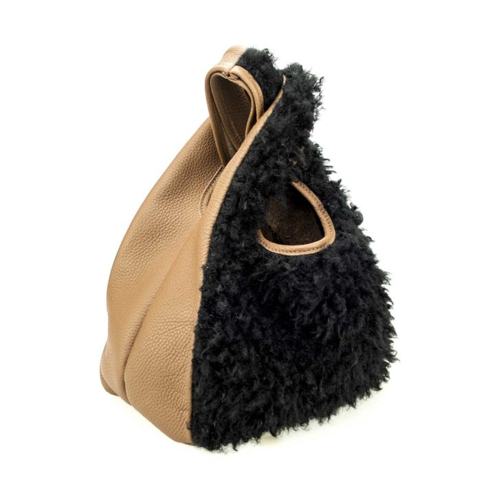 Bobos minibag faux fur. Coolt, Fall 2018, Made in Italy